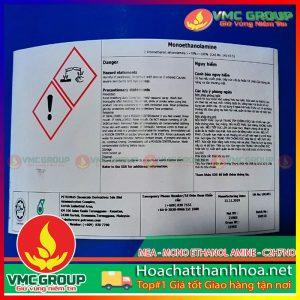 MEA - MONO ETHANOL AMINE - C2H7NO HCVMTH