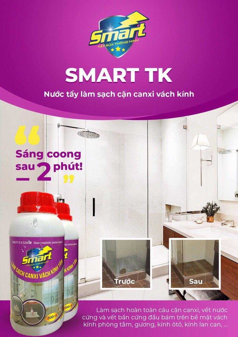 CHẤT TẨY CẶN CANXI GƯƠNG KÍNH SMART TK