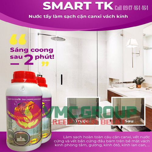 smart TK nuoc tay lam sach can canxi vach kinh