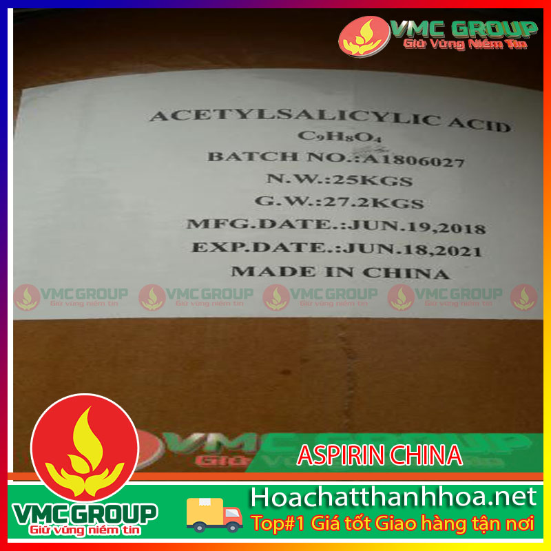 HÓA CHẤT ACETYL SALISILIC - ASPIRIN - C9H8O4 HCVMTH